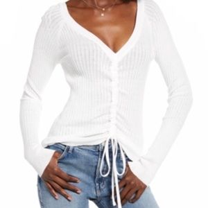 NWT English factory ivory ribbed sweater size S